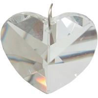 Crystal Prism Faceted Heart