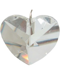 Crystal Prism Faceted Heart Mystic Convergence Metaphysical Supplies Metaphysical Supplies, Pagan Jewelry, Witchcraft Supply, New Age Spiritual Store