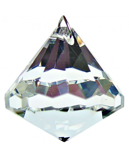 Crystal Prism Faceted Diamond at Mystic Convergence Metaphysical Supplies, Metaphysical Supplies, Pagan Jewelry, Witchcraft Supply, New Age Spiritual Store