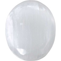 Selenite Worry Stone
