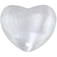 Selenite Heart Stone in 2 Sizes