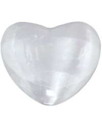 Selenite Heart Stone in 2 Sizes Mystic Convergence Metaphysical Supplies Metaphysical Supplies, Pagan Jewelry, Witchcraft Supply, New Age Spiritual Store