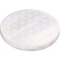 Flower of Life Selenite Charging Disk