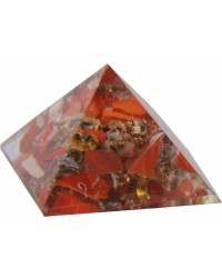 Red Jasper Root Chakra Orgone Pyramid Mystic Convergence Metaphysical Supplies Metaphysical Supplies, Pagan Jewelry, Witchcraft Supply, New Age Spiritual Store