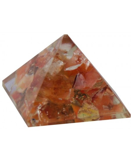 Carnelian Sacral Chakra Orgone Pyramid at Mystic Convergence Metaphysical Supplies, Metaphysical Supplies, Pagan Jewelry, Witchcraft Supply, New Age Spiritual Store
