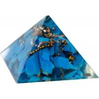 Turquoise Throat Chakra Orgone Pyramid