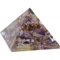 Amethyst Crown Chakra Orgone Pyramid