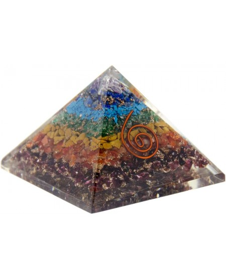 7 Chakras Orgone Pyramid at Mystic Convergence Metaphysical Supplies, Metaphysical Supplies, Pagan Jewelry, Witchcraft Supply, New Age Spiritual Store