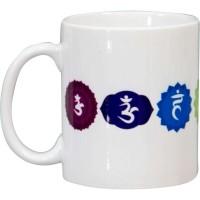 7 Chakra White Ceramic Mug