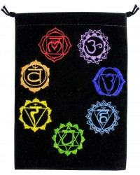 7 Chakras Embroidered Velvet Pouch Mystic Convergence Metaphysical Supplies Metaphysical Supplies, Pagan Jewelry, Witchcraft Supply, New Age Spiritual Store