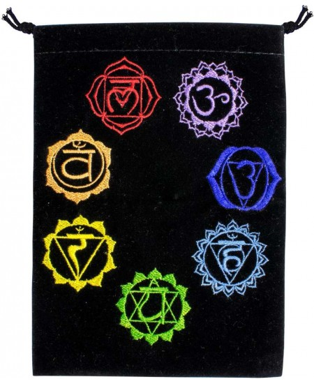 7 Chakras Embroidered Velvet Pouch at Mystic Convergence Metaphysical Supplies, Metaphysical Supplies, Pagan Jewelry, Witchcraft Supply, New Age Spiritual Store