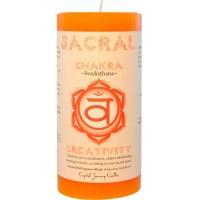 Sacral Chakra Orange Pillar Candle