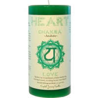 Heart Chakra Green Pillar Candle
