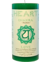 Heart Chakra Green Pillar Candle Mystic Convergence Metaphysical Supplies Metaphysical Supplies, Pagan Jewelry, Witchcraft Supply, New Age Spiritual Store