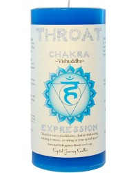 Throat Chakra Blue Pillar Candle Mystic Convergence Metaphysical Supplies Metaphysical Supplies, Pagan Jewelry, Witchcraft Supply, New Age Spiritual Store