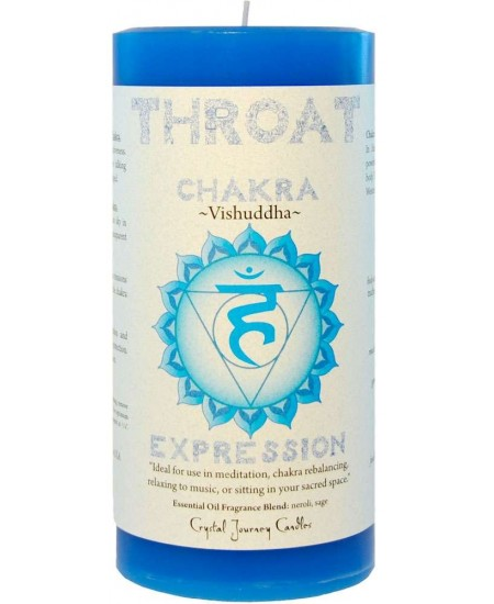 Throat Chakra Blue Pillar Candle at Mystic Convergence Metaphysical Supplies, Metaphysical Supplies, Pagan Jewelry, Witchcraft Supply, New Age Spiritual Store