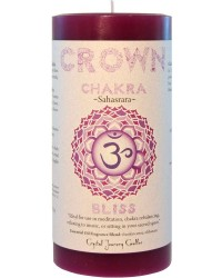 Crown Chakra Purple Pillar Candle Mystic Convergence Metaphysical Supplies Metaphysical Supplies, Pagan Jewelry, Witchcraft Supply, New Age Spiritual Store