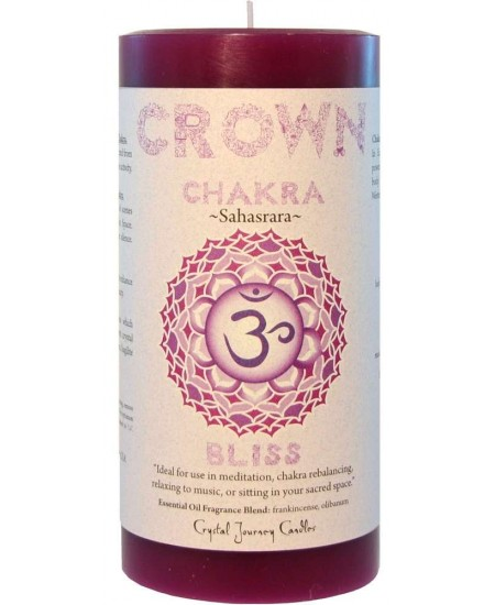 Crown Chakra Purple Pillar Candle at Mystic Convergence Metaphysical Supplies, Metaphysical Supplies, Pagan Jewelry, Witchcraft Supply, New Age Spiritual Store