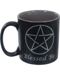 Blessed Be Pentacle Ceramic Mug Mystic Convergence Metaphysical Supplies Metaphysical Supplies, Pagan Jewelry, Witchcraft Supply, New Age Spiritual Store