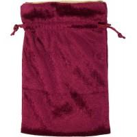 Burgundy Velvet Lined Pouch