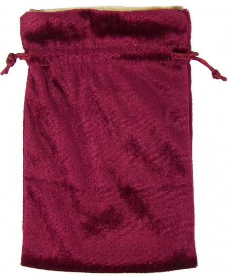 Burgundy Velvet Lined Pouch at Mystic Convergence Metaphysical Supplies, Metaphysical Supplies, Pagan Jewelry, Witchcraft Supply, New Age Spiritual Store