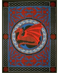 Red Celtic Dragon Tapestry Mystic Convergence Metaphysical Supplies Metaphysical Supplies, Pagan Jewelry, Witchcraft Supply, New Age Spiritual Store