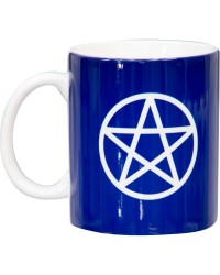 Pentacle Blue Ceramic Mug Mystic Convergence Metaphysical Supplies Metaphysical Supplies, Pagan Jewelry, Witchcraft Supply, New Age Spiritual Store