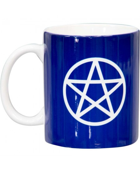 Pentacle Blue Ceramic Mug at Mystic Convergence Metaphysical Supplies, Metaphysical Supplies, Pagan Jewelry, Witchcraft Supply, New Age Spiritual Store