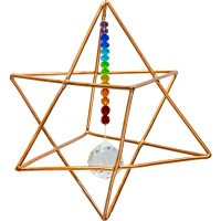 Copper Merkaba Energizer with Chakra Crystals