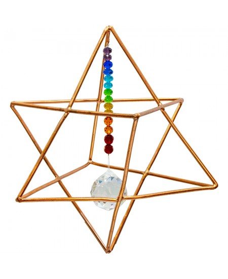 Copper Merkaba Energizer with Chakra Crystals at Mystic Convergence Metaphysical Supplies, Metaphysical Supplies, Pagan Jewelry, Witchcraft Supply, New Age Spiritual Store