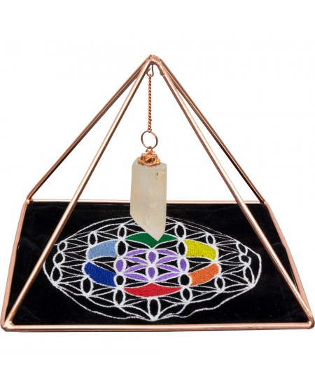 Copper Pyramid Energizer Set for Charging and Power at Mystic Convergence Metaphysical Supplies, Metaphysical Supplies, Pagan Jewelry, Witchcraft Supply, New Age Spiritual Store