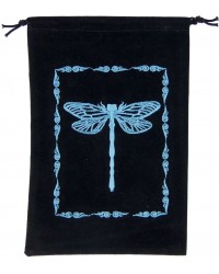 Dragonfly Embroidered Velvet Pouch Mystic Convergence Metaphysical Supplies Metaphysical Supplies, Pagan Jewelry, Witchcraft Supply, New Age Spiritual Store