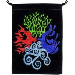 4 Elements Embroidered Velvet Pouch at Mystic Convergence Metaphysical Supplies, Metaphysical Supplies, Pagan Jewelry, Witchcraft Supply, New Age Spiritual Store