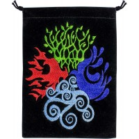 4 Elements Embroidered Velvet Pouch