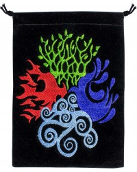 4 Elements Embroidered Velvet Pouch Mystic Convergence Metaphysical Supplies Metaphysical Supplies, Pagan Jewelry, Witchcraft Supply, New Age Spiritual Store