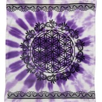 Flower of Life Purple Altar Cloth