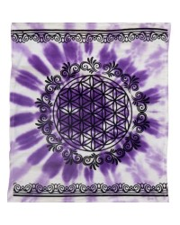 Flower of Life Purple Altar Cloth Mystic Convergence Wiccan Supplies, Pagan Jewelry, Witchcraft Supplies, New Age Store