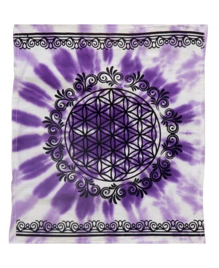 Flower of Life Purple Altar Cloth at Mystic Convergence Metaphysical Supplies, Metaphysical Supplies, Pagan Jewelry, Witchcraft Supply, New Age Spiritual Store