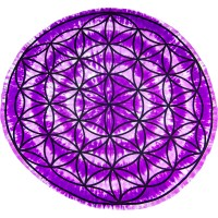 Flower of Life Round Table Cover