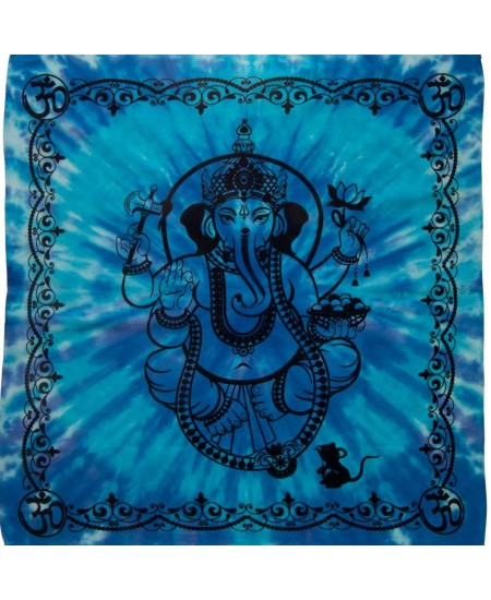 Ganesha Tie Dye Altar Cloth at Mystic Convergence Metaphysical Supplies, Metaphysical Supplies, Pagan Jewelry, Witchcraft Supply, New Age Spiritual Store