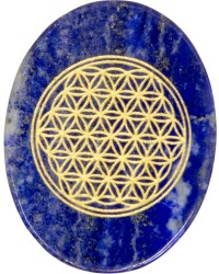 Lapis Lazuli Flower of Life Worry Stone Mystic Convergence Metaphysical Supplies Metaphysical Supplies, Pagan Jewelry, Witchcraft Supply, New Age Spiritual Store