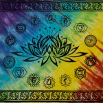 Lotus Chakra Tie Dye Altar Cloth at Mystic Convergence Metaphysical Supplies, Metaphysical Supplies, Pagan Jewelry, Witchcraft Supply, New Age Spiritual Store