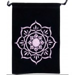 Lotus Embroidered Velvet Pouch at Mystic Convergence Metaphysical Supplies, Metaphysical Supplies, Pagan Jewelry, Witchcraft Supply, New Age Spiritual Store