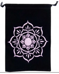 Lotus Embroidered Velvet Pouch Mystic Convergence Metaphysical Supplies Metaphysical Supplies, Pagan Jewelry, Witchcraft Supply, New Age Spiritual Store