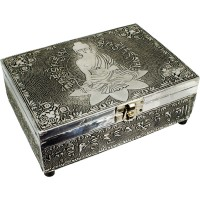 Medicine Buddha Embossed Metal Box