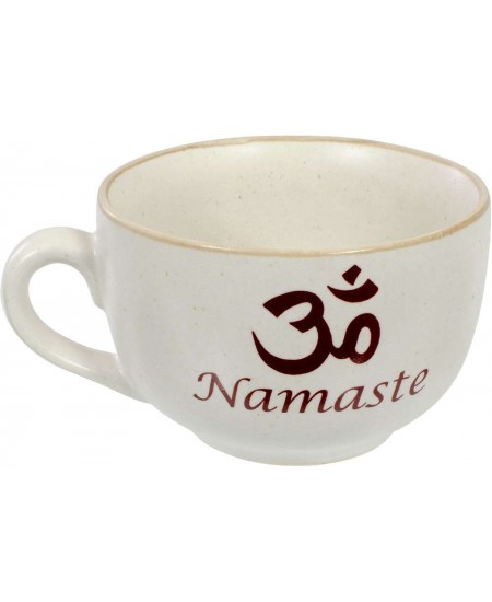 Namaste Om Cappuccino Cup at Mystic Convergence Metaphysical Supplies, Metaphysical Supplies, Pagan Jewelry, Witchcraft Supply, New Age Spiritual Store