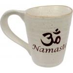 Namaste Om 10 oz Ceramic Mug at Mystic Convergence Metaphysical Supplies, Metaphysical Supplies, Pagan Jewelry, Witchcraft Supply, New Age Spiritual Store