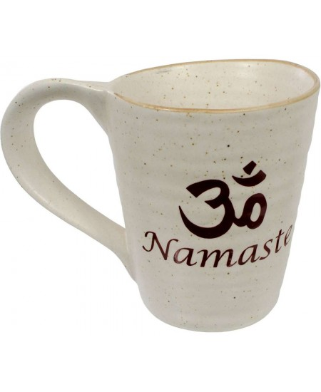 Namaste Om 10 oz Ceramic Mug at Mystic Convergence Metaphysical Supplies, Metaphysical Supplies, Pagan Jewelry, Witchcraft Supply, New Age Spiritual Store