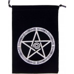 Pentacle Embroidered Velvet Pouch at Mystic Convergence Metaphysical Supplies, Metaphysical Supplies, Pagan Jewelry, Witchcraft Supply, New Age Spiritual Store