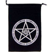 Pentacle Embroidered Velvet Pouch